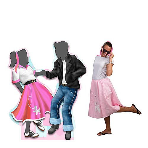 6 ft. 50s Fifties Dancing Couple Standee Standup Photo Booth Prop Background Backdrop Party Decoration Decor Scene Setter Cardboard Cutout -