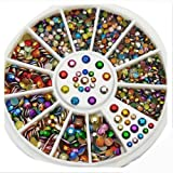 Accessories for beautiful nails 3D New Hot Nail Art Rhinestones Glitters Acrylic Tips Decoration Manicure Wheel#10