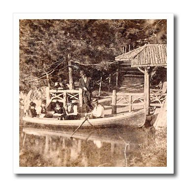 Best-selling 3dRose Scenes from the Past Magic Lantern Slides - New York City Boat Landing Central