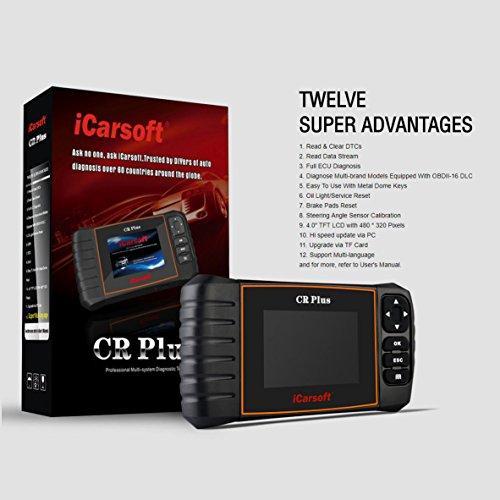 CR Plus iCarsoft Universal OBD Pro Diagnostic Code Scanner SRS ABS Brake Light
