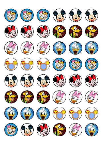 Mickey Mouse Disney Minnie Mouse Daisy Duck Donald Duck Goofy Edible Cupcake Toppers - Disney Duck Sheets