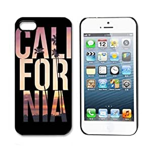 amtonseeshop Unique Various New Stylish Personalized Protective Snap On Hard Plastic Case For iphone 5 5G 5S (CALI FOR NIA)