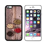 MSD Premium Apple iPhone 6/6S Plus Aluminum Backplate Bumper Snap Case IMAGE 21807043 Tarnished silver spoons containing black white pink and green peppercorns wood