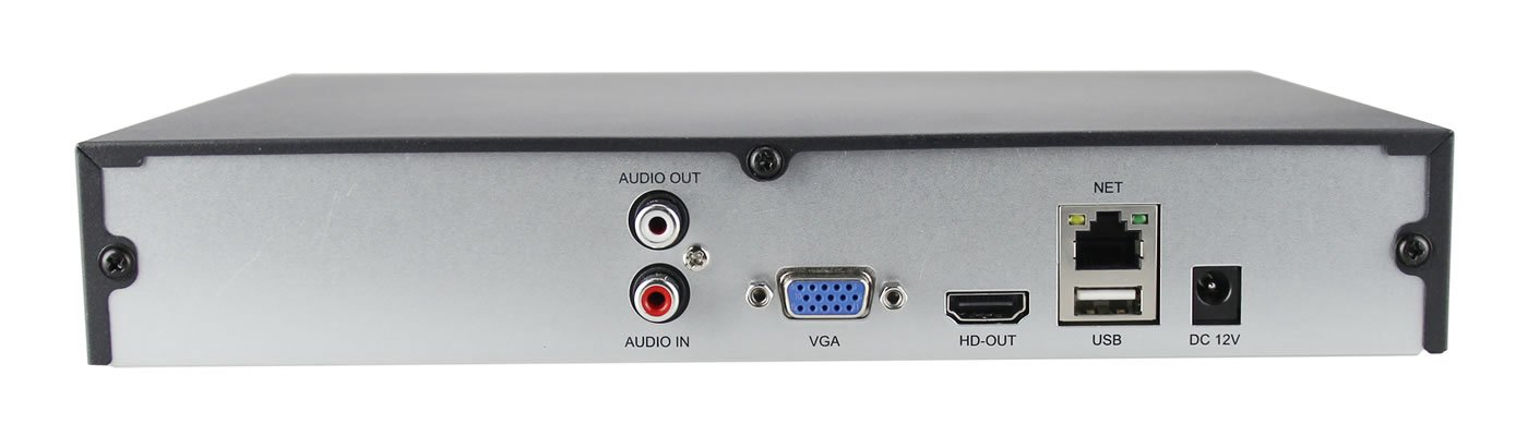 HDView (Economic Series) 9 Channel ONVIF NVR, H.265/H.264, Real Time Recording for 4K/5MP/4MP/3MP/1080P/960P/720P IP Camera, 1 Channel Audio, P2P (No PoE) by HDView (Image #2)