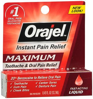 Orajel Toothache Pain Relief - Orajel Maximum Strength Toothache Pain Relief Liquid - .45 oz, Pack of 2
