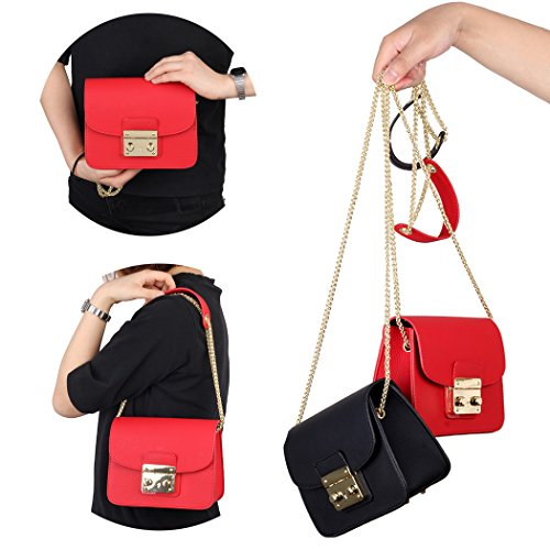 Size with Purse small Chain for Small Red Removable Wedding Clutch Crossbody bags for Chain Women Crossbody Black Clutch Red 7FFqTzHxw