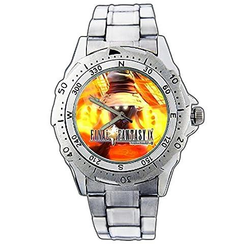 Men's Wristwatches PE01-1475 Final Fantasy IX FF 9 Vivi Ornitier Stainless Steel Wrist Watch (Fantasy Wrist Watch)