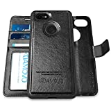 [Upgraded Version] AMOVO Pixel 3 XL Wallet Case [2 in 1] [Wireless Charger] Google Pixel 3 XL Case Wallet Detachable [Vegan Leather] Pixel 3 XL Flip Case with Gift Box Package (Pixel 3XL, Black)