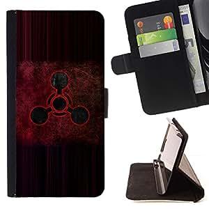 Momo Phone Case / Flip Funda de Cuero Case Cover - Señal roja;;;;;;;; - Samsung Galaxy S6 Active G890A