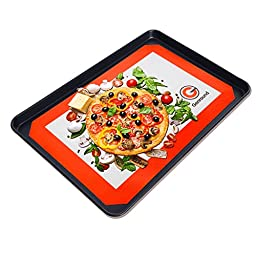 Silicone Baking Mats, - Genround Non Stick Cookie Sheet Heat Resistant Liners Set of 3 - 2 x Large Half Sheet, 1 x Small Quarter Sheet - FDA-Approved