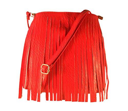 Deal Especial Fancy Layered desginer Elegante mujeres y chicas sling bolsa regalos Red