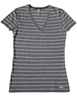 Under Armour Women's Tri-Blend Striped V-Neck Fitted Tee Shirt