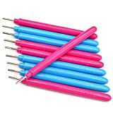 IMISNO Craft DIY Slotted Paper Quilling Tools (Pack of 10 , 10.5cmx1cm , Rose and Blue)