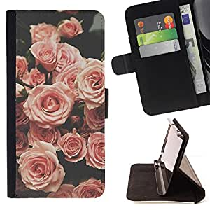 Rose Retro Vignette Vintage Spring - Painting Art Smile Face Style Design PU Leather Flip Stand Case Cover FOR Apple Iphone 4 / 4S @ The Smurfs