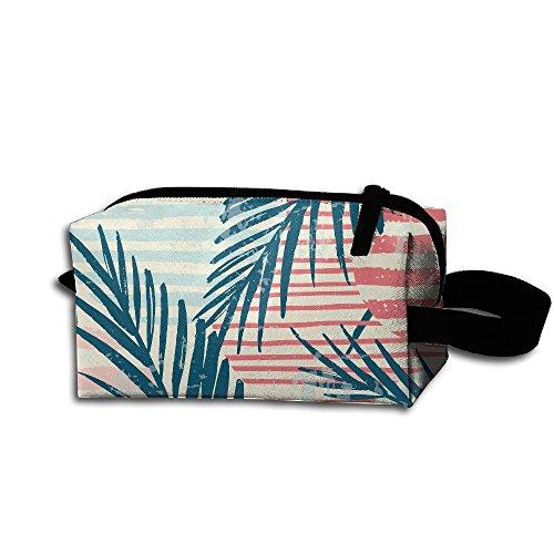 XIELIAN Plam Tree Makeup Bag Printing Travel Portable Cosmetic Bag Stationery Storage Pouch Bag Multi-function Bag For Girl Women Men ()