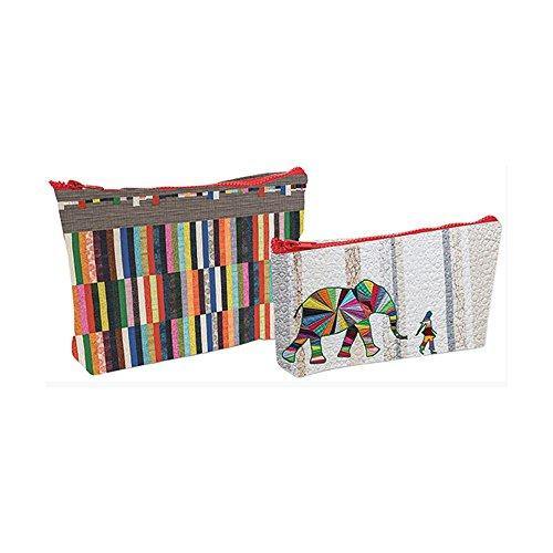 Zipper Bag Pattern (Eco Pouch Set - Elephant And)