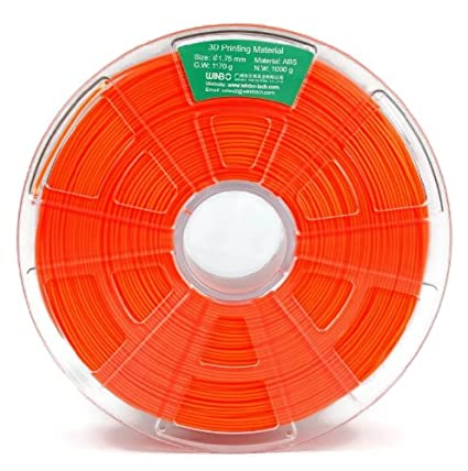 Filamento ABS 1000g 1,75mm para impresoras 3D (Naranja): Amazon.es ...