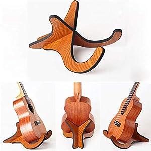 XJXJ Faltbare bewegliche Ukulele Violine Mandoline Holzstandplatz-Halter Universal-X-Rahmen-Art-Violine verstellbare…