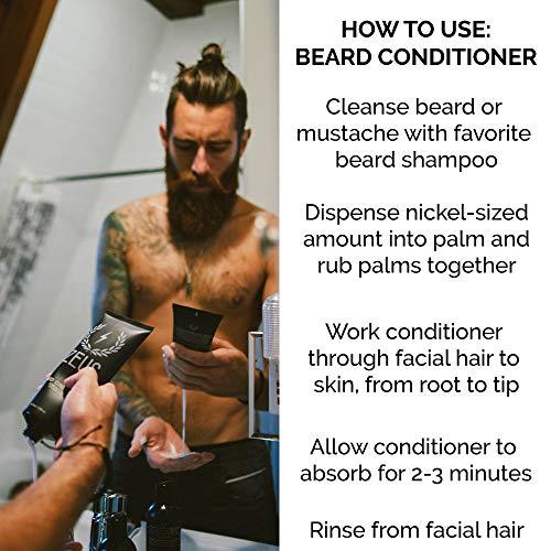 ZEUS Beard Shampoo and Beard Conditioner Set for Men - (8 oz  Bottles)  (Scent: Sandalwood)