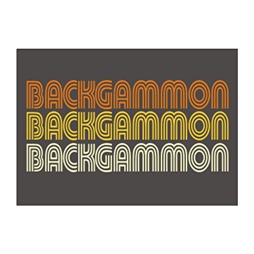 Teeburon Backgammon RETRO COLOR Pack of 4 Stickers ()
