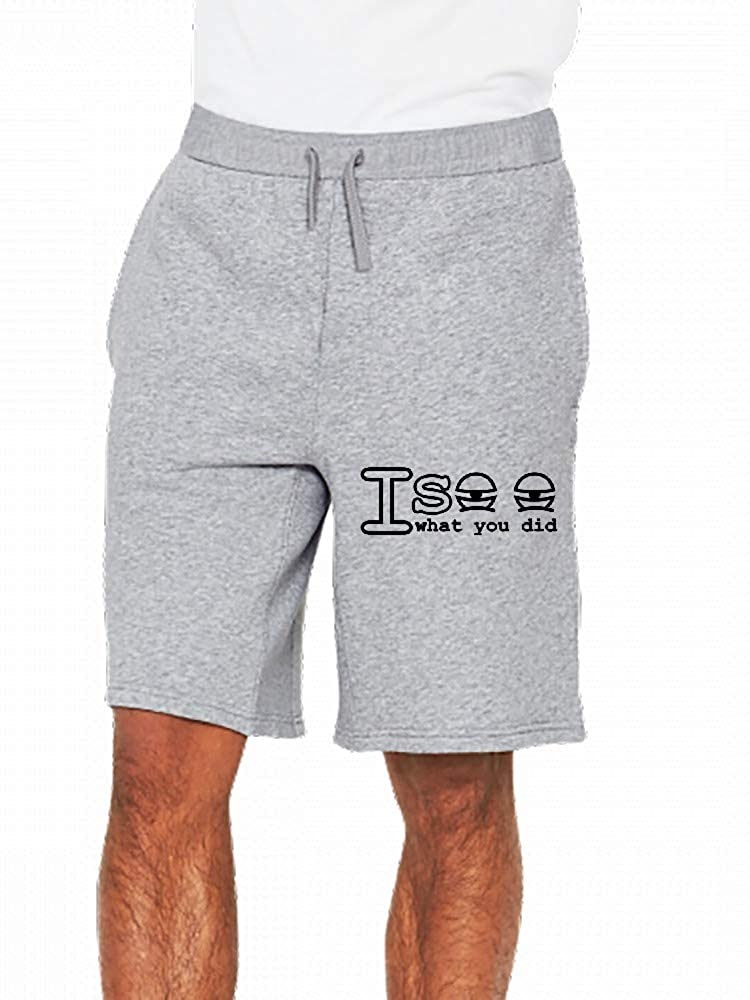 I See What You Did Mens Casual Short Trouser