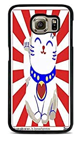 Lucky Cat Black Silicone Case for Samsung Galaxy S6 by supermalls