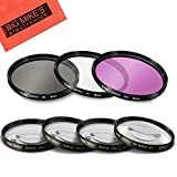 58mm 7PC Filter Set for Fujifilm X-T2, X-T10, X-T20 Mirrorless Digital Camera with 18-55mm F2.8-4.0 R LM OIS Lens - Includes 3 PC Filter Kit (UV-CPL-FLD) and 4PC Close Up Filter Set (+1+2+4+10)