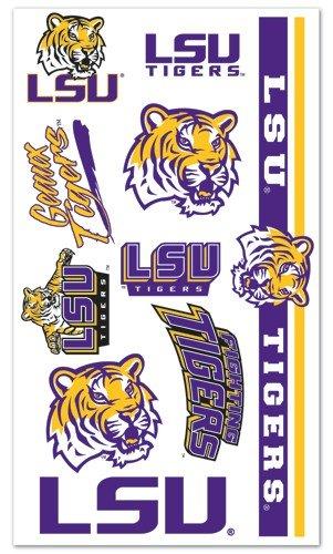 LSU Tigers NCAA Temporary Tattoos