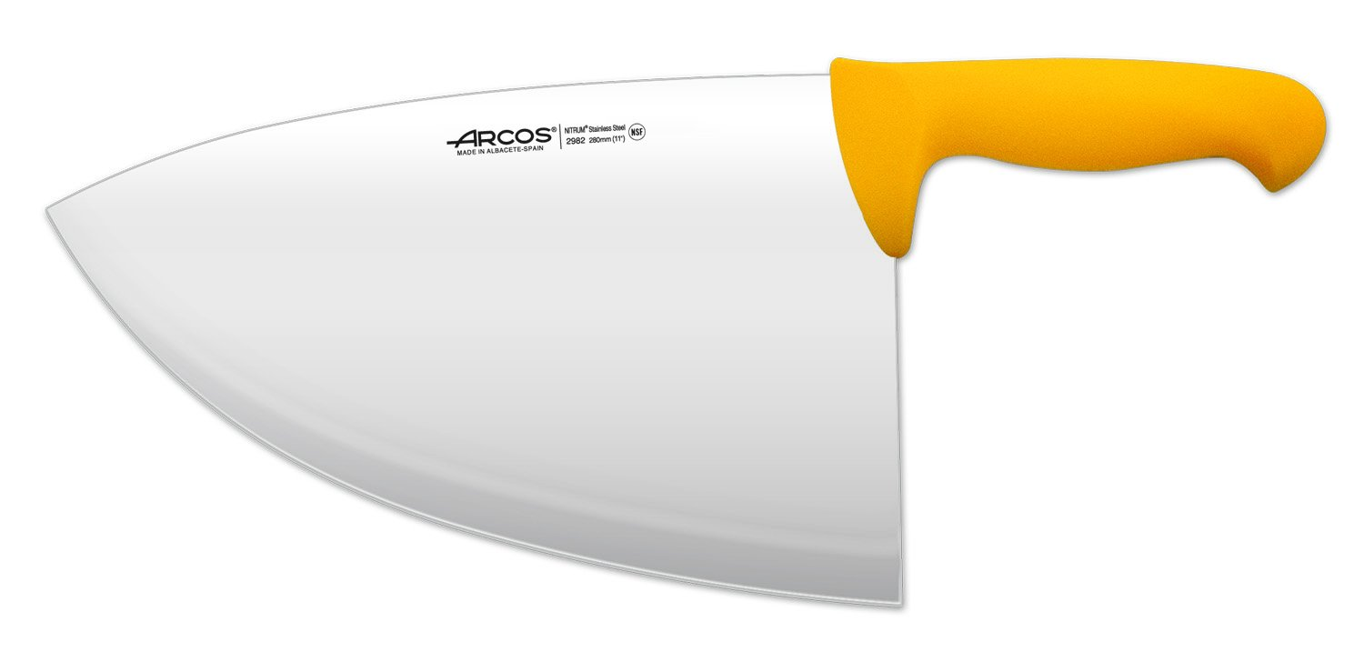 Arcos 11-Inch 280 mm 575 gm 2900 Range Cleaver, Yellow