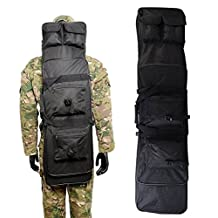 Airsson Tactical Rifle Gun Shotgun Pistol Case Cover Soft Bag Fishing Backpack Storage with Shoulder Strap Magazine Pouch Nylon Waterproof