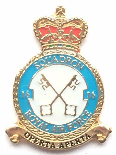 RAF pas 16Escadron Royal Air Force Petit Badge àépingle * * * * * * * * * * * * * * * * sous licence officielle