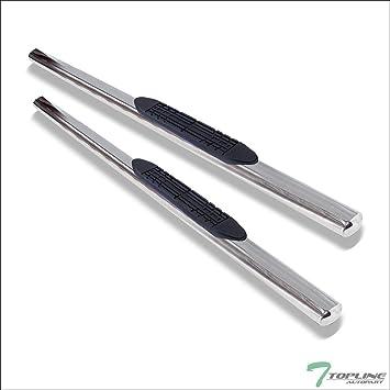 Cab Standard Topline Autopart 3 Polished Stainless Steel Side Step Nerf Bars Rail Running Boards For 99-18 Chevy Silverado ; GMC Sierra Regular