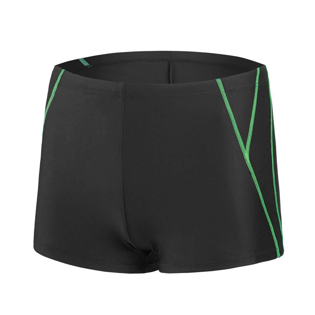 iLXHD Shorts Men Summer Quick Dry Swimwear Beach Surfing Swimming Short Pants Boxer Briefs Black
