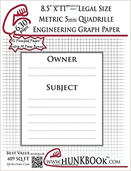 buy engineering graph paper 630pages white metric 5mm quadrille