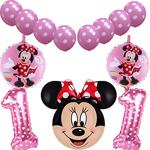 High Quality | Ballons & Accessories | 13pcs/Set Mickey Minnie Birthday Theme foil Balloons 1 to 3 Age Kid's Birthday Party Decorations Ballons Party Supplies globos | by -