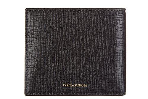 Bi Gabbana Wallet Patch Designer amp; Men's Black Fold Dolce A7wPqXZZ