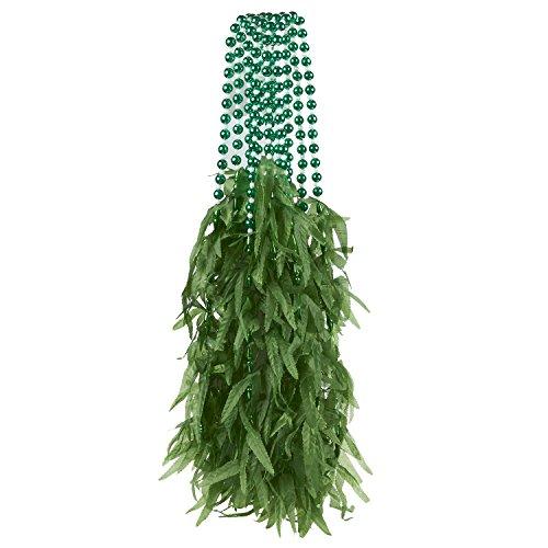 6-Piece Marijuana Leaf Mardi Gras Bulk Beads Set for Outfit Costume Wear, Games, Decoration, Party Favors - (Mardi Gras Accessories Wholesale)
