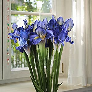3Pcs Artificial Flowers For Weddings Artificial Decorations Real Touch Iris Fake Flowers Home Decoration Party Supplies 9