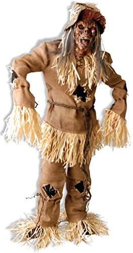 Deluxe Scarecrow Mask (Forum Novelties Men's Mega Scarecrow Deluxe Adult Costume, Brown, Standard)
