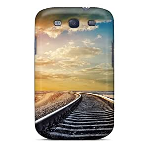 Tpu Chenzong Shockproof Scratcheproof Railway Sunrise Hard Case Cover For Galaxy S3