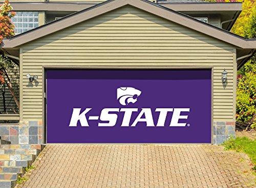Victory Corps 7' X 16' Double Garage Door Decor Banner Sign Mural Kansas State Wildcats