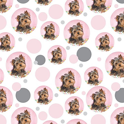 GRAPHICS & MORE Yorkie Yorkshire Terrier Dog Candy Eggs Easter Premium Gift Wrap Wrapping Paper Roll