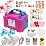 Balloon Pump,132 PCS Electric Balloon Blower 110V
