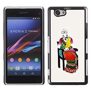 Be Good Phone Accessory // Dura Cáscara cubierta Protectora Caso Carcasa Funda de Protección para Sony Xperia Z1 Compact D5503 // Middle Ages on chair