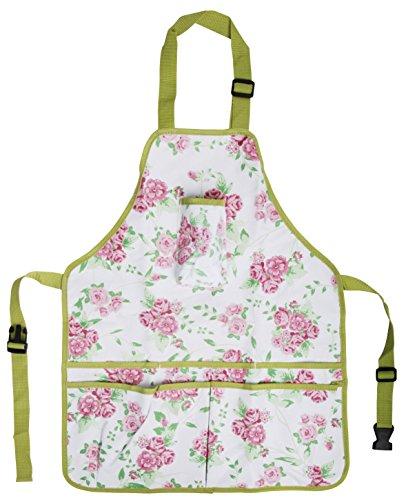 gardening aprons pockets - Esschert Design USA Rose Print Garden Apron