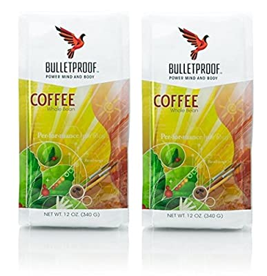 Bulletproof Whole Bean 12oz (Pack of 2) + Bonus Airtight Refillable Plastic Container from Bulletproof