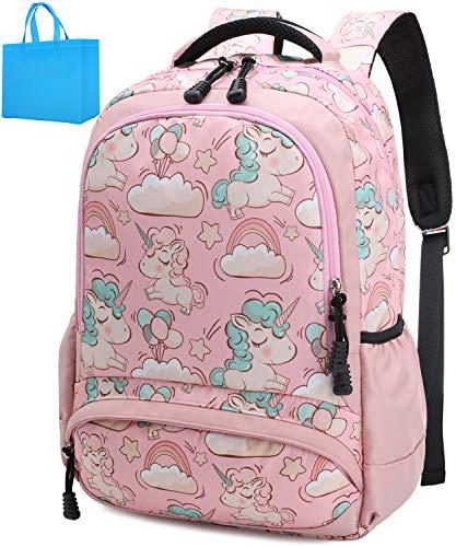 School Backpacks Girls Unicorn Backpack School Bags Kids Bookbags for Girls Elementary School(Pink Backpack)