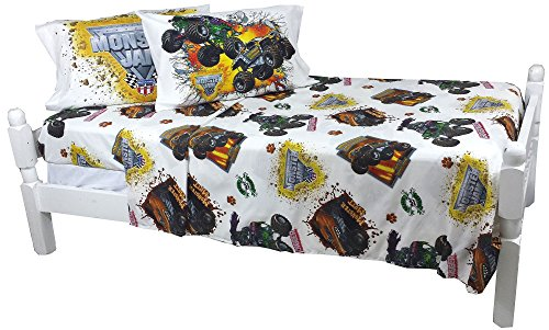 5pc Monster Jam Full Bedding Set Grave Digger Maximum