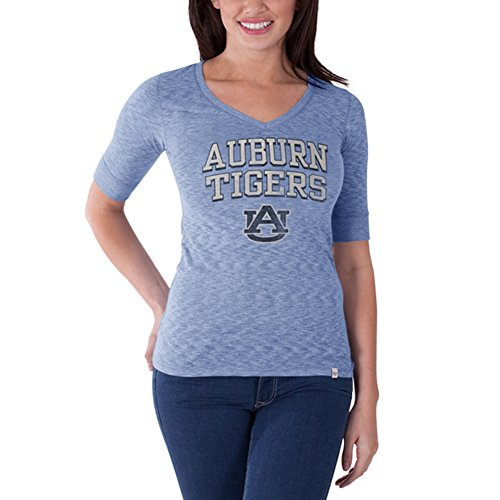 - NCAA Auburn Tigers Women's Roster V-Neck Tee, Olympic Blue, Medium