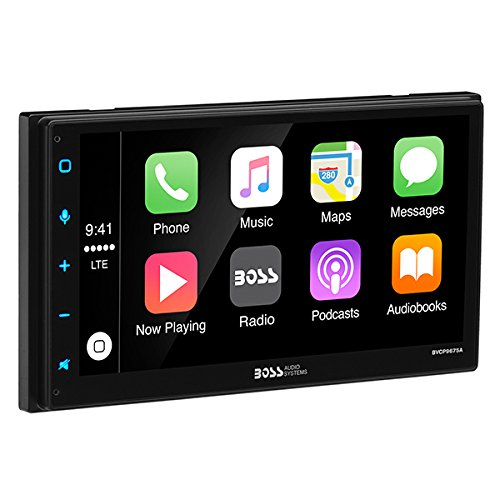 Boss Audio BVCP9675A Double Din, Apple CarPlay, Android Auto, Bluetooth, 6.75'' Capacitive Touchscreen Mech-Less (No CD/DVD) AM/FM Receiver, MP3/USB